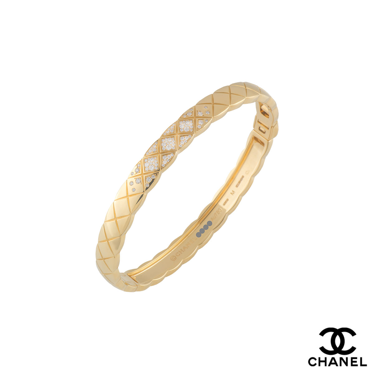 Chanel Yellow Gold Diamond Coco Crush Bracelet J11140